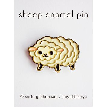Sheep Pin - Enamel Pin - Knitting Pin - Knit Enamel Pin