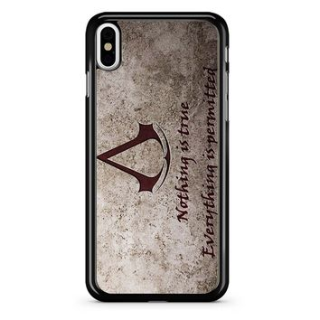 Assassins Creed Logo iPhone X Case