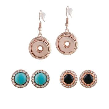 Rose Gold Plated Earrings 2 Sets 12mm