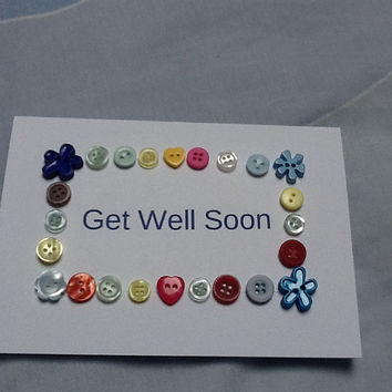 Get Well Soon Card, Birthday Boy Card, Birthday Girl Card, Sweet 16, New Home, Personalised Card, Sentiment Card, Button Card, Message Card