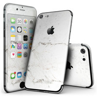 White Grungy Marble Surface - 4-Piece Skin Kit for the iPhone 7 or 7 Plus