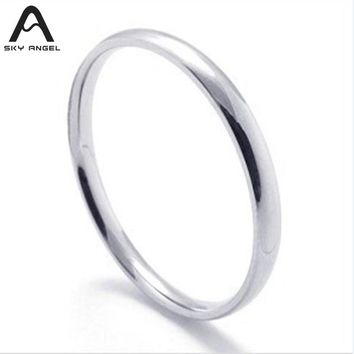SkyAngel cheap Stainless Steel Rings for women ladies Bulk Jewelry Wholesale Cheap Ring men fashion girl gifts Drop Shipping