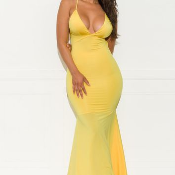 An Elegant Affair Dress - Yellow