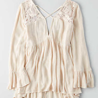 AEO Lace Yoke Tunic , Blush