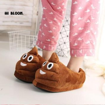 Funny Men Winter Indoor Plush Shoes Lovely Gift Women Children Stuffed House Shoes Warm House Smiley Emoticon Slippers