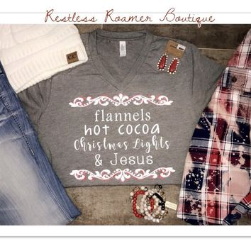 Flannels/ Hot Cocoa Tee