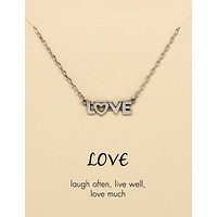 Claire Laugh, Live and Love Necklace