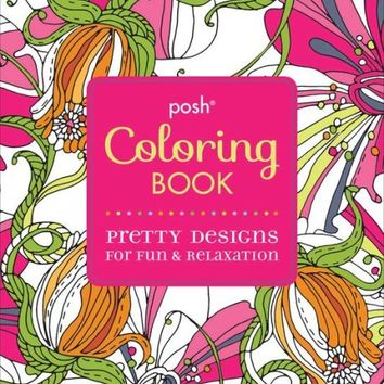 Posh Coloring Book Pretty Designs For From Barnes Amp Noble