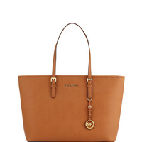 Jet Set Medium Zip-Top Tote Bag, Luggage - MICHAEL Michael Kors