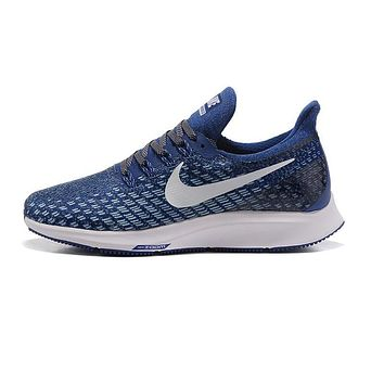 Nike Air Zoom Pegasus All Out Flyknit Blue White Black