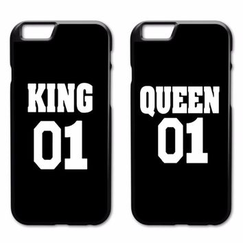 Cool King Queen Couple Case for iPhone 4 4S 5 5S 5C SE 6 6S 7 8 Plus X Samsung Galaxy S3 S4 S5 Mini S6 S7 S8 S9 Edge Plus A3 A5 A7AT_93_12