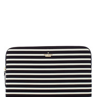Kate Spade Fairmont Stripe Laptop Zip Sleeve Black ONE