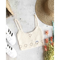 free people - berkinette crochet bralette crop cami top (brami) - more colors
