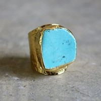 Turquoise Cigar Ring