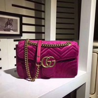 Gucci446744 Women Fashion Leather Shoulder Bag