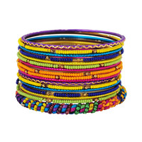 Vibrant Beaded Bangle Set | FOREVER21 - 1000039856