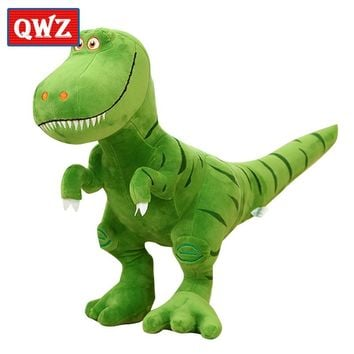 QWZ Boy Gift Plush Dinosaur Figurine Tyrannosaurus Superficial Dragon 2 Kinds Of Images Optional Holiday Gift Toys For Children