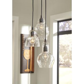 L000458 Adelphia Glass Pendant Light (1/CN) - Clear - Free Shipping!