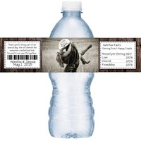 21 Add Your Photo Rustic Wedding Water Labels
