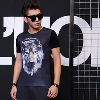 Fashion Short Sleeve Round-neck Summer Print Men's Fashion Strong Character T-shirts = 6450431427