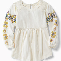 Slub-Knit Fit & Flare Tunic for Toddler Girls | Old Navy