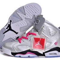 Hot Nike Air Jordan 6 Retro Women Shoes Valentines Day