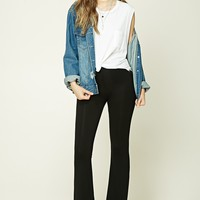 Stretch-Knit Flared Pants