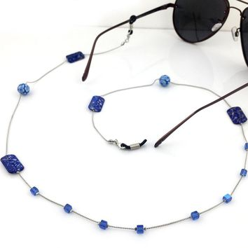 10 colors available Women Vintage Fashion Stones Eyeglass Eyewears Sunglasses Reading Glasses Chain Cord Holder neck strap Rope
