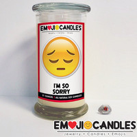 I'm So Sorry - Emoji Candles