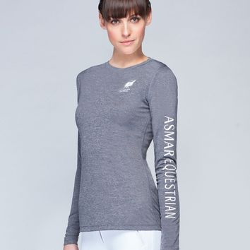Asmar Long Sleeve T  Heather Grey
