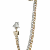 Stud And Chain Ear Cuff
