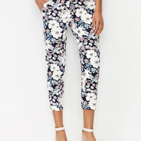 Curvy Sketched Floral Cropped Pants