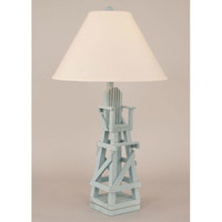 Coast Lamp Manufacturing 22BD Weathered Atlantic Gray One-Light Lifeguard Chair Table Lamp