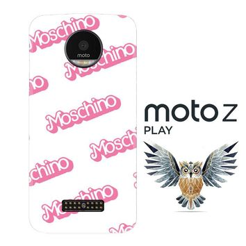 moschino pattern Z5297 Motorola Moto Z Play Case