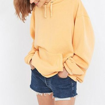 Urban Renewal Vintage Customised Bleached Orange Hoodie - Urban Outfitters