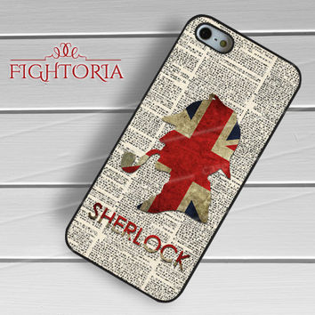 Sherlock Holmes Silhouette -Str1 for iPhone 6S case, iPhone 5s case, iPhone 6 case, iPhone 4S, Samsung S6 Edge