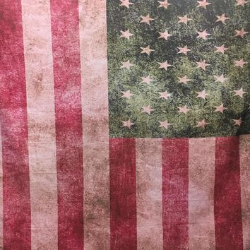 FLAG GRUNGE STYLE WITH PINK TINT PLATINUM CLOTH BACKDROP - 8X8 - LCPC4089 - LAST CALL