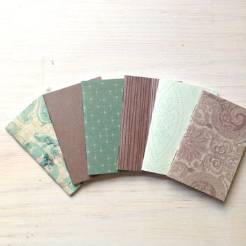 Tiny Journals: Small Notebooks, Mini Wedding Favors, Teal, Grey, Mini Journals, Small, Unique, Cute, Purse Journal