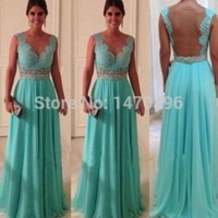 Sexy Lace Bridesmaid Formal Ball Party Prom Long Dresses