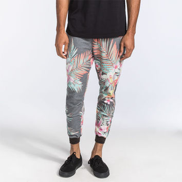 Elwood Svrf Hawaiian Floral Mens Jogger Pants Multi  In Sizes