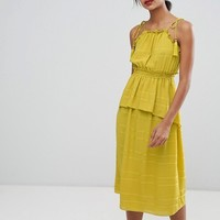 Whistles Textured Ruffle Tie Dress at asos.com