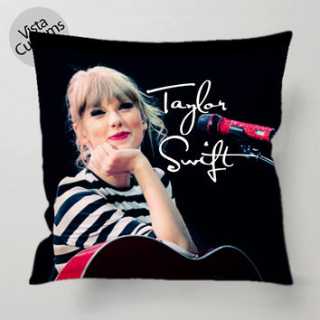 Red Tour Taylor Swift pillow case, cover ( 1 or 2 Side Print With Size 16, 18, 20, 26, 30, 36 inch )