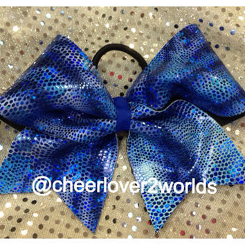 Royal Blue Swirl Cheer Bow
