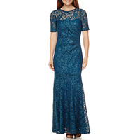 Decoded Short Sleeve Evening Gown - JCPenney