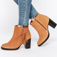 ASOS ELLA Wide Fit Suede High Ankle Boots at asos.com