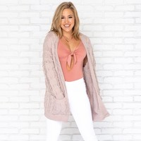 Get Your Knit Together Cardigan in Taupe
