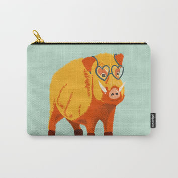 Benevolent Boar Carry-All Pouch by borianagiormova