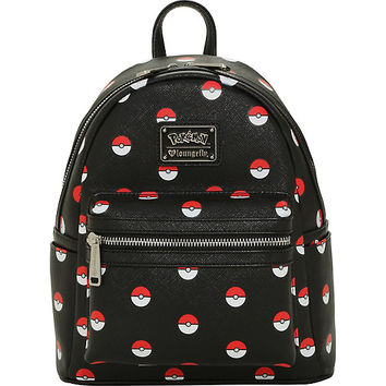 Loungefly Pokemon Poke Ball Mini Backpack