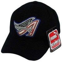 MLB LA LOS ANGELES ANGELS PUMA BLACK BASEBALL HAT CAP