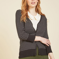 Morse Than You Bargained For Striped Cardigan | Mod Retro Vintage Sweaters | ModCloth.com